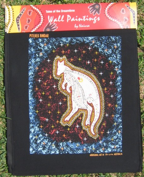 Australian Aboriginal art print on canvas - Pitereka Bindar