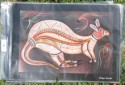 Great Kangaroo Aboriginal art print based on Aboriginal tale