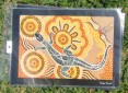 Goanna People Aboriginal art print based on Aboriginal tale
