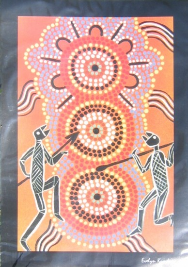 Aboriginal Art Print Two Sisters