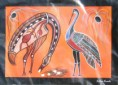 Aboriginal art print based on Aboriginal tale - Brolga
