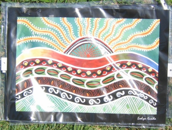 Aboriginal Art Print The Birth of the Sun
