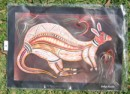 Aboriginal art print based on Aboriginal tale