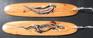 Aboriginal hand painted bullroarers