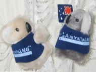 corporate clip-on koala toys