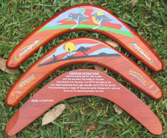 Popular returning souvenir boomerang
