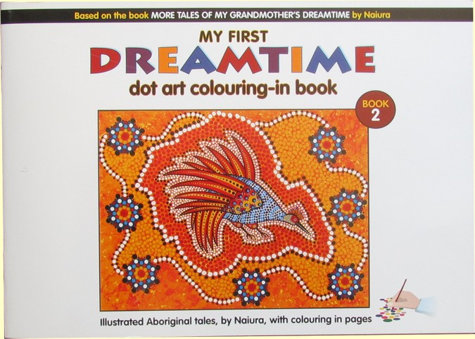 Dreamtime dot art colouring in book