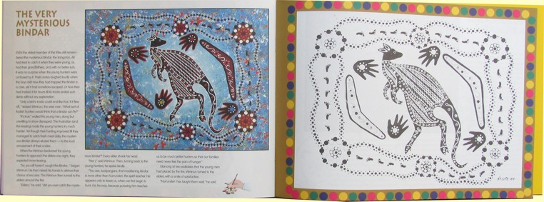 Dreamtime dot art colouring in book | open