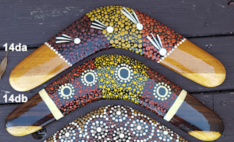 Traditional dot art boomerangs, 14in